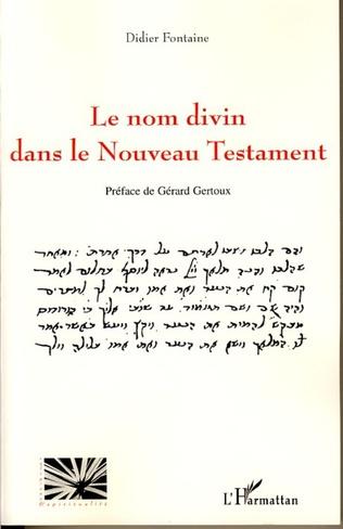 Couverture Le nom divin dans le nouveau testament