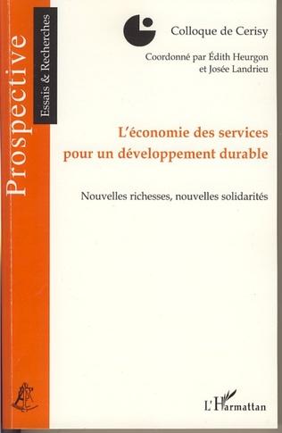 Couverture L'économie des services pour un développement durable