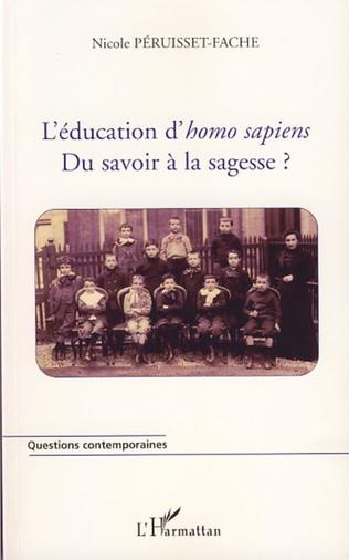 Couverture L'éducation d'homo sapiens