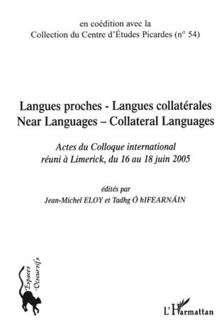 Couverture Langues proches - Langues collatérales
