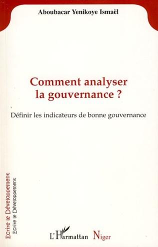 Couverture Comment analyser la gouvernance?