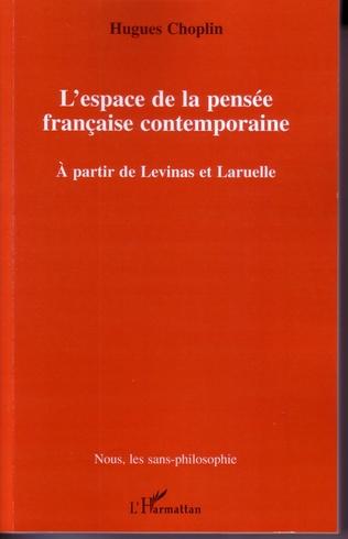 Couverture L'espace de la pensée française contemporaine