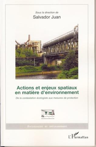 Couverture Actions et enjeux spatiaux en matière d'environnement