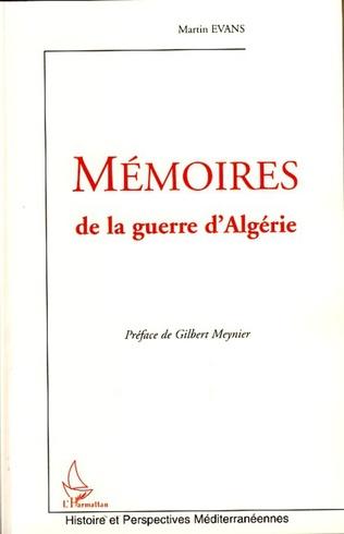 Couverture Mémoires de la guerre d'Algérie