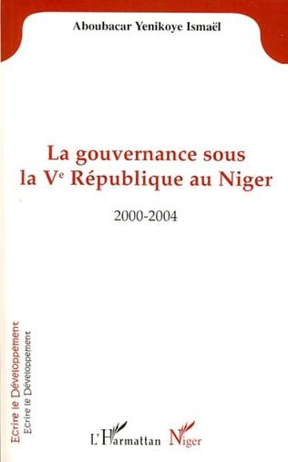 Couverture La gouvernance sous la Vè République au Niger