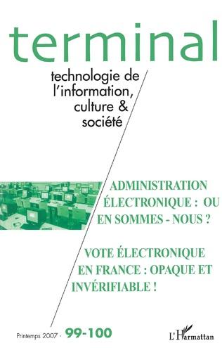 Couverture Administration électronique : où en sommes-nous ?