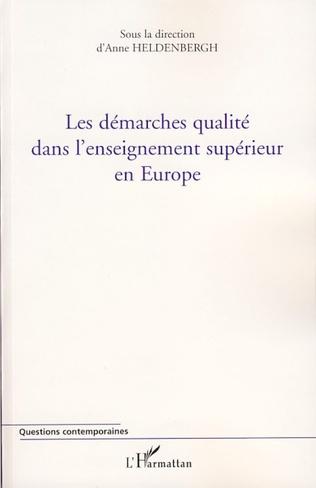 Couverture Les démarches qualité dans l'enseignement supérieur en Europe