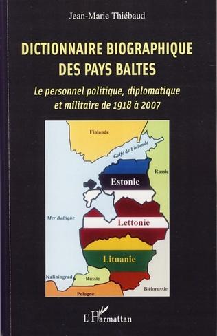 Couverture Dictionnaire biographique des Pays baltes