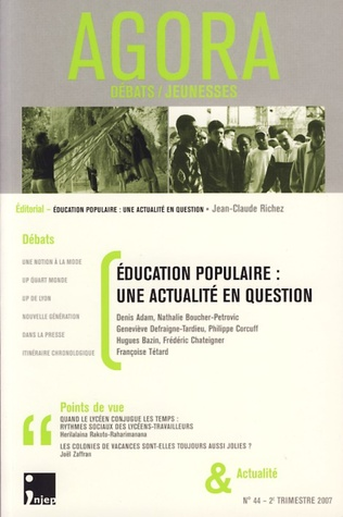 Couverture Education populaire : une actualité en question