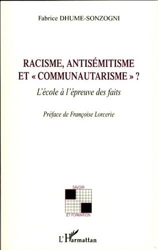 Couverture Racisme, antisémitisme et