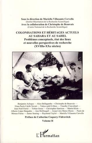 Couverture Colonisations et héritages actuels au Sahara et au Sahel