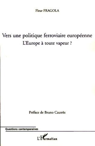 Couverture Vers une politique ferroviaire européenne