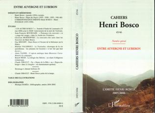Couverture Cahiers Henri Bosco N°45/46 numéro spécial