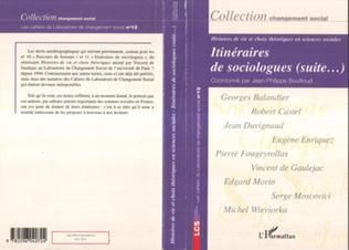 Couverture Itinéraires de sociologues (suite...)