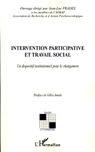 Couverture Intervention participative et travail social