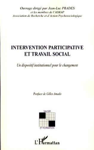 Couverture Intervention participative et travail social