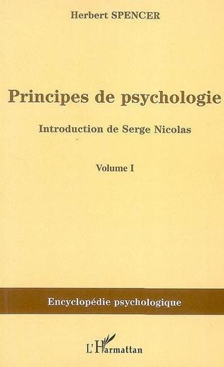 Couverture Principes de psychologie (volume 1)