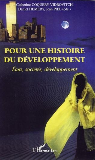 Couverture Pour une histoire du développement