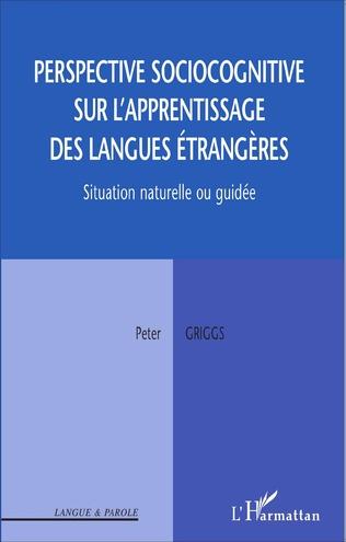 Couverture Perspective sociocognitive sur l'apprentissage des langues étrangères