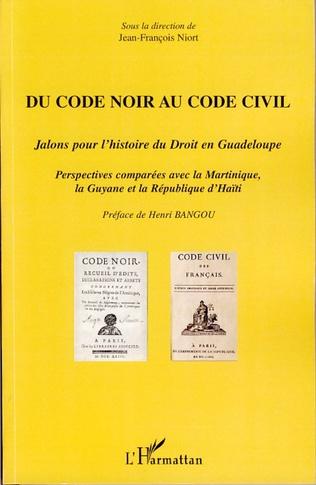 Couverture Du Code noir au Code civil