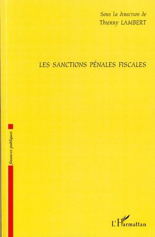 Couverture Les sanctions pénales fiscales