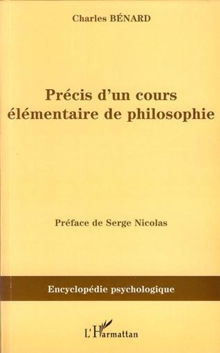 Couverture Précis d'un cours élémentaire de philosophie