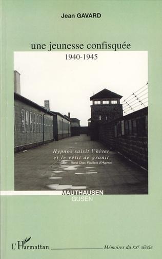 Couverture Une jeunesse confisquée 1940-1945