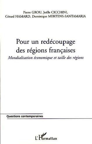 Couverture Pour un redécoupage des régions françaises