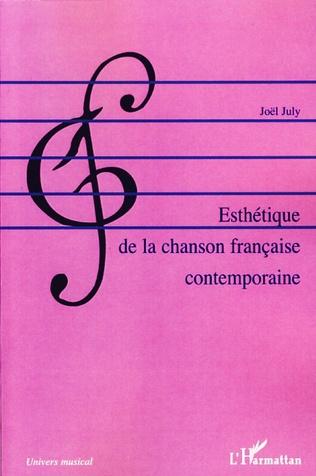 Couverture Esthétique de la chanson française contemporaine
