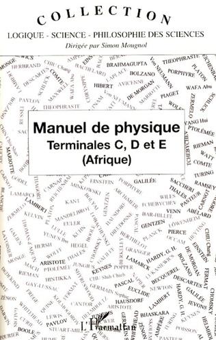 Couverture Manuel de Physique