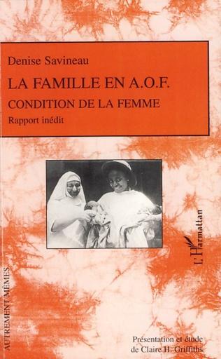 Couverture La famille en A.O.F.