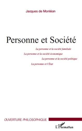 Couverture Personne et Société