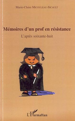 Couverture Mémoires d'un prof en résistance