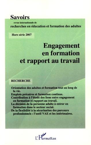 Couverture Engagement en formation et rapport au travail