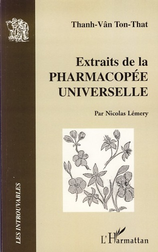 Couverture Extraits de la pharmacopée universelle