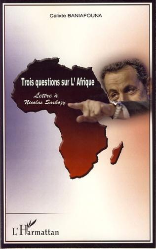 Couverture Trois questions sur l'Afrique