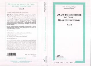 Couverture 20 ans de sociologie de l'art