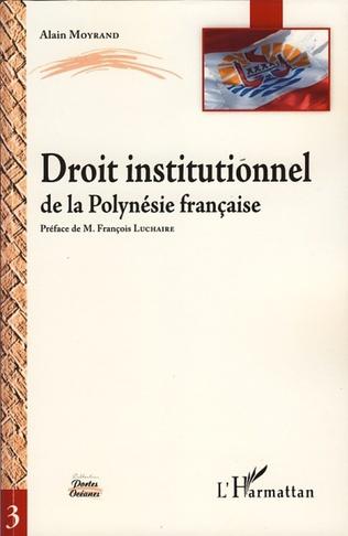 Couverture Droit institutionnel de la Polynésie française