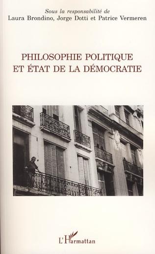 Couverture Philosophie politique et état de la démocratie