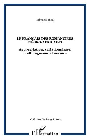 Couverture Le français des romanciers négro-africains