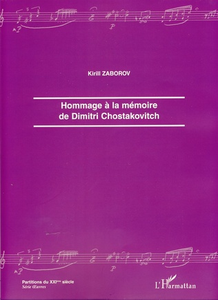Couverture Hommage à la mémoire de Dimitri Chostakovitch