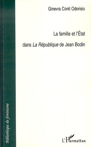 Couverture La famille et l'Etat dans La République de Jean Bodin