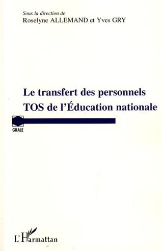 Couverture Transfert des personnels TOS de l'Education nationale
