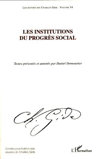 Couverture Les institutions du progrès social