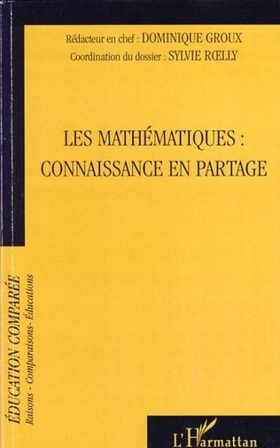 Couverture Les mathématiques : connaissance en partage