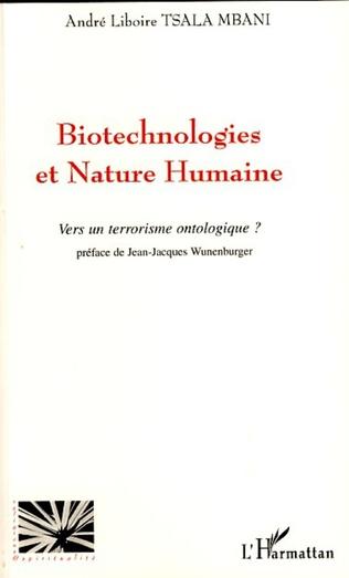 Couverture Biotechnologies et nature humaine