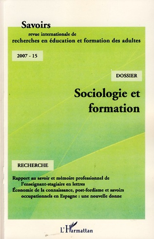 Couverture Sociologie et formation