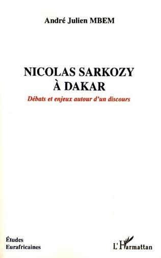 Couverture Nicolas Sarkozy à Dakar
