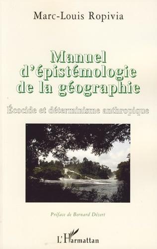 Couverture Manuel d'épistémologie de la géographie