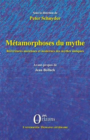Couverture Métamorphoses du mythe